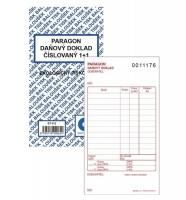 Paragon-Daňový doklad PT 012 - číslovaný, propisující, 80x150 mm, 50 listů