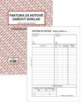 Faktura za hotové-Daňový doklad PT 198 - propisující, A5, 50 listů