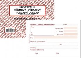 Univerzální příjmový-výdajový pokladní doklad PT 060 - propisující, A6, 50 listů