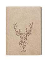 Denní diář Adam-vivella s ražbou - B6, béžový, jelen