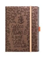 Denní diář Adam-vivella extra - B6, moka, káva