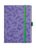 Denní diář Adam-vivella extra - B6, fialový, levandule