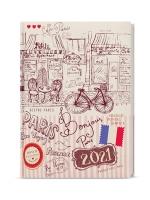 Denní diář Adam-lamino s gumičkou - B6, Paříž