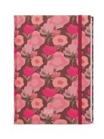 Denní diář Adam-lamino s gumičkou - B6, růžová
