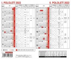 Plánovací karta - A5, roční