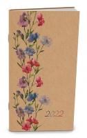 Měsíční diář Halina-kraft - kapesní, květiny