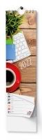 Nástěnný pracovní kalendář - kravata, Pracovní, 120x400 mm, měsíční