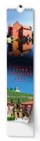 Nástěnný obrázkový kalendář - kravata, Česká Republika, 110x460 mm, měsíční