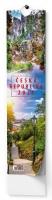 Nástěnný obrázkový kalendář - Česká Republika, 110x460 mm, měsíční