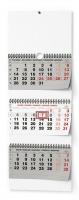 Nástěnný pracovní kalendář - skládaný, 292x720 mm, tříměsíční, šedý