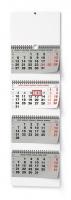 Nástěnný pracovní kalendář - skládaný, 292x900 mm, čtyřměsíční, šedý