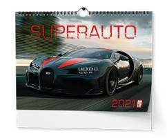 Nástěnný obrázkový kalendář - Superauto, A3, měsíční