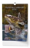 Nástěnný obrázkový kalendář - Rybářský, A3, měsíční