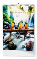Nástěnný obrázkový kalendář - Pohádková místa, A3, měsíční