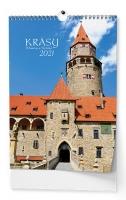 Nástěnný obrázkový kalendář - Krásy Moravy a Slezska, A3, měsíční