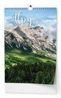 Nástěnný obrázkový kalendář - Alpy, A3, měsíční