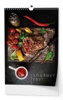 Nástěnný obrázkový kalendář - Gourmet, A3, měsíční