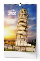 Nástěnný obrázkový kalendář - Evropa, A3, měsíční