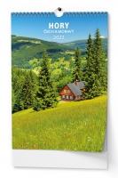 Nástěnný obrázkový kalendář - Hory Čech a Moravy, A3, měsíční