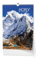 Nástěnný obrázkový kalendář - Hory, A3, měsíční