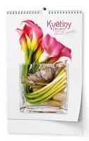 Nástěnný obrázkový kalendář - Květiny, A3, měsíční