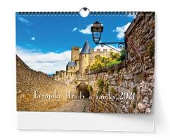Nástěnný obrázkový kalendář - Evropské hrady a zámky, A3, měsíční