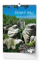 Nástěnný obrázkový kalendář - Český ráj, A3, měsíční