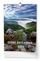 Nástěnný obrázkový kalendář - České Švýcarsko, A3, měsíční