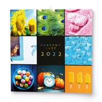 Nástěnný obrázkový kalendář - Barevný svět, 285x285 mm, měsíční