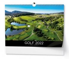 Nástěnný obrázkový kalendář - Golf - České resorty, A3, měsíční