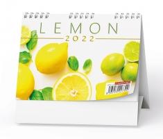 Stolní pracovní kalendář - MINI, lemon, čtrnáctidenní