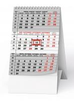 Stolní pracovní kalendář - MINI, tříměsíční