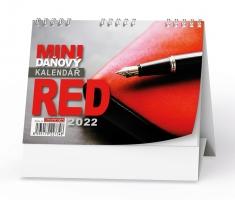 Stolní daňový kalendář - MINI, Red, týdenní