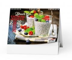Stolní obrázkový kalendář - Zdravé snídaně a smoothie, týdenní
