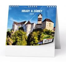 Stolní obrázkový kalendář - Hrady a zámky, týdenní