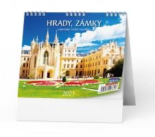 Stolní obrázkový kalendář - Hrady, zámky a památky ČR, týdenní
