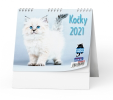 Stolní obrázkový kalendář - Kočky, týdenní