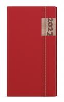 Týdenní diář Jakub-denim - kapesní, červený
