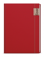 Týdenní diář Oskar-denim - A5, červený