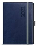 Týdenní diář Oskar-reno s gumičkou - A5, modrý