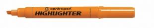 Zvýrazňovač Centropen Highlighter 8552 - klínový hrot, 1-4,6 mm, oranžový