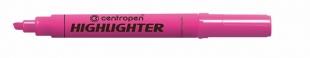 Zvýrazňovač Centropen Highlighter 8552 - klínový hrot, 1-4,6 mm, růžový