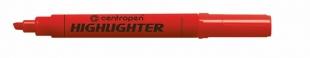Zvýrazňovač Centropen Highlighter 8552 - klínový hrot, 1-4,6 mm, červený
