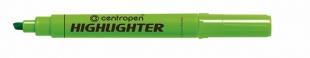 Zvýrazňovač Centropen Highlighter 8552 - klínový hrot, 1-4,6 mm, zelený