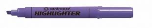 Zvýrazňovač Centropen Highlighter 8552 - klínový hrot, 1-4,6 mm, fialový