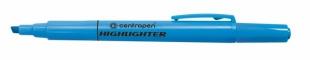 Zvýrazňovač Centropen Highlighter 8722 - klínový hrot, 1-4 mm, modrý