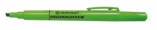 Zvýrazňovač Centropen Highlighter 8722 - klínový hrot, 1-4 mm, zelený