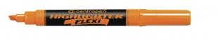 Zvýrazňovač Centropen Highlighter Flexi 8542 - klínový hrot, 1-5 mm, oranžový