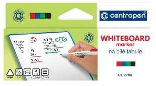Popisovač na bílé tabule Centropen WB Marker 2709/4 - 1,8 mm, sada 4 ks