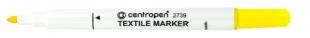 Popisovač na textil Centropen Textile Marker 2739 - 1,8 mm, žlutý